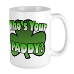 Shamrocks in Shamrock Shamrock Large Mug