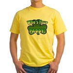 Shamrocks in Shamrock Shamrock Yellow T-Shirt