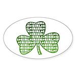 Shamrock Irish Girl Shamrock Oval Sticker