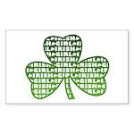Shamrock Irish Girl Shamrock Rectangle Sticker