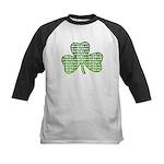 Shamrock Irish Girl Shamrock Kids Baseball Jersey