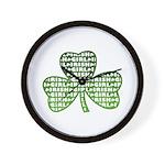 Shamrock Irish Girl Shamrock Wall Clock