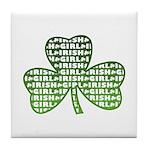 Shamrock Irish Girl Shamrock Tile Coaster