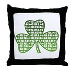 Shamrock Irish Girl Shamrock Throw Pillow
