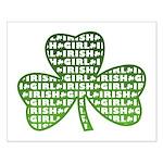 Shamrock Irish Girl Shamrock Small Poster