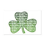 Shamrock Irish Girl Shamrock Mini Poster Print