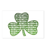 Shamrock Irish Girl Shamrock Postcards (Package of