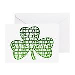 Shamrock Irish Girl Shamrock Greeting Cards (Pk of