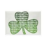 Shamrock Irish Girl Shamrock Rectangle Magnet (10