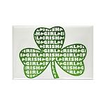 Shamrock Irish Girl Shamrock Rectangle Magnet