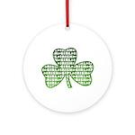 Shamrock Irish Girl Shamrock Ornament (Round)