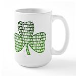 Shamrock Irish Girl Shamrock Large Mug