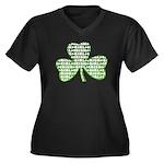 Shamrock Irish Girl Shamrock Women's Plus Size V-N