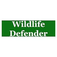 Wildlife Defender Bumper Bumper Sticker