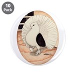 "70s Indian Fantail Pigeon 3.5"" Button (10 pac"