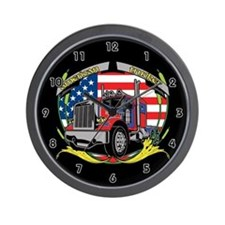 American Trucker Wall Clock