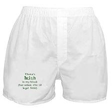 Funny Irish blood Boxer Shorts