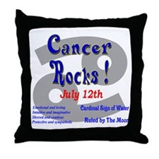 Cancer July 12th Throw Pillow