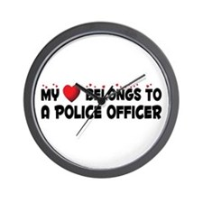 Belongs To A Police Officer Wall Clock