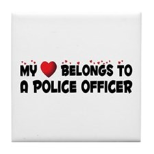 Belongs To A Police Officer Tile Coaster