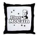 Elect McCain Throw Pillow