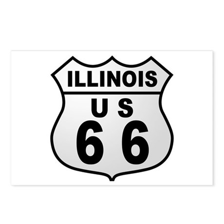 Illinois Route 66 Postcards (Package of 8)