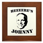 Heeeeere's Johnny Framed Tile
