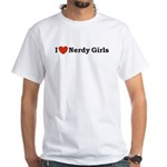 I love Nerdy Girls White T-Shirt