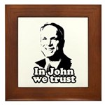 In John we trust Framed Tile