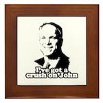 I've got a crush on John McCain Framed Tile