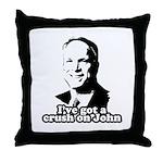 I've got a crush on John McCain Throw Pillow