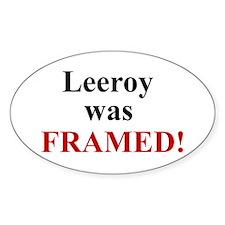 Leeroy Framed Oval Decal