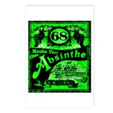 Cute Absinthe Postcards (Package of 8)