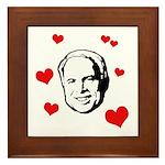 I heart McCain Framed Tile