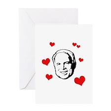 I heart McCain Greeting Card
