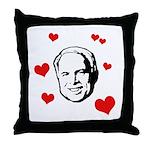 I heart McCain Throw Pillow