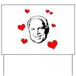 I heart McCain Yard Sign
