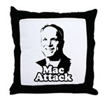Mac attack Throw Pillow