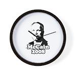 John McCain 2008 Wall Clock