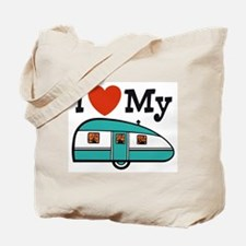 I Love My Trailer Tote Bag