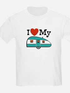 I Love My Trailer Kids T-Shirt