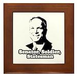 McCain: Senator, soldier, statesman Framed Tile