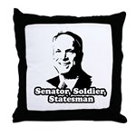 McCain: Senator, soldier, statesman Throw Pillow