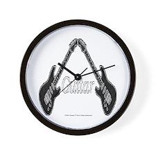 Guitar mirror image 10 inch Wall Clock