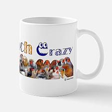 Zebra Finch Crazy Sticker Mugs