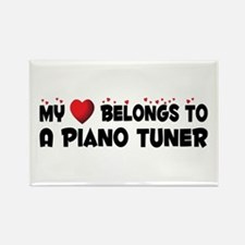 Belongs To A Piano Tuner Rectangle Magnet