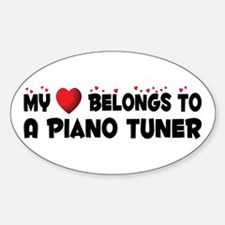 Belongs To A Piano Tuner Oval Decal