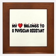 Belongs To A Physician Assistant Framed Tile