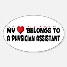 Belongs To A Physician Assistant Oval Decal