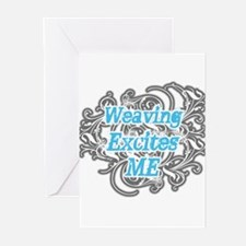 Weaving Excites me Greeting Cards (Pk of 20)